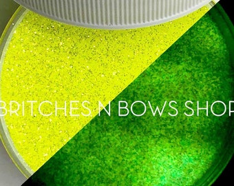 You Are My Sunshine [Yellow/Green Glow] || Exclusive Premium Polyester Glitter, 1oz jar • TRANSPARENT • || .008 cut