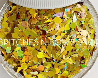 Snitches Get Stitches || Harry Potter Inspired Snitch Glitter Shapes, 1oz Jar • OPAQUE •