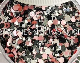 Prom Night || Confetti Dot Glitter Mix, 1oz Jar • Semi-OPAQUE •