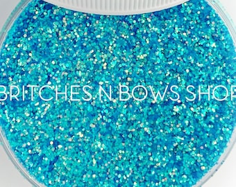 Blue Slushie    Exclusive Premium Polyester Glitter, 1oz by Weight • TRANSPARENT •     .015 cut • TGB July Release, Limited Amount