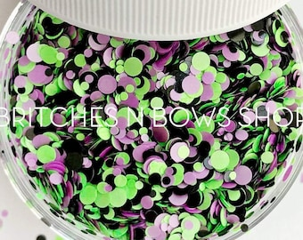 Monster Mash || Confetti Dot Glitter Mix, 1oz Jar • OPAQUE •