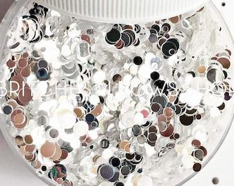 Mirror, Mirror on the Wall (Diamond Family) || Confetti Dot Glitter, 1oz Jar • TRANSPARENT•