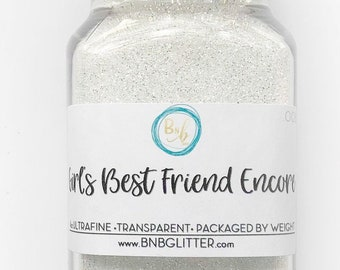 Girl's Best Friend Encore BULK (Diamond Family) || Polyester Glitter, 4oz by Weight • TRANSPARENT • || .008 cut