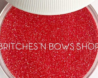 Strawberry Fields    Exclusive Premium Polyester Glitter, 1oz by Weight • Semi-OPAQUE •    .008 cut