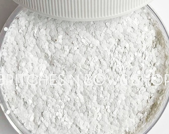 White Out    Premium *Cosmetic* Polyester Glitter, 1oz by Weight • OPAQUE •    .04 cut