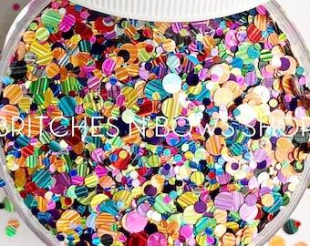Pure Imagination || Confetti Dot Glitter Mix, 1oz Jar • OPAQUE •