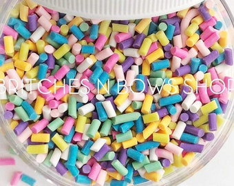 Sprinkle Sprinkle Little Star || Polymer Clay FAKE Sprinkle Shapes, 1oz Jar • OPAQUE •