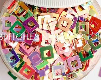 Square Dance || Fun Glitter, 1oz Jar • OPAQUE •