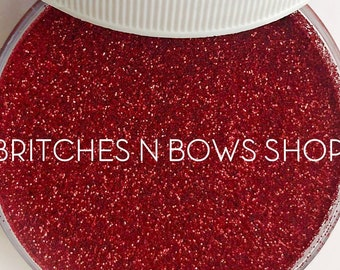 Red Velvet    Premium Polyester Glitter, 1oz by Weight • OPAQUE •     .008 cut