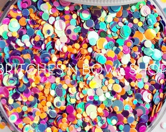 Nerds || Confetti Dot Glitter Mix, 1oz Jar • OPAQUE •