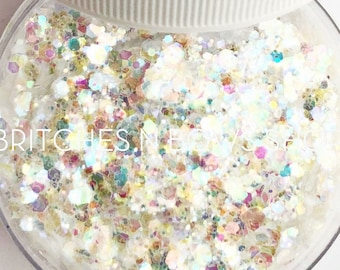Cake Batter || Exclusive Premium Polyester Glitter, 1oz by Weight • TRANSPARENT Mix • || up to .125 cut