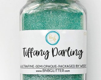 Tiffany Darling BULK || Exclusive Premium Polyester Glitter, 4oz by Weight • Semi-OPAQUE • || .008 cut