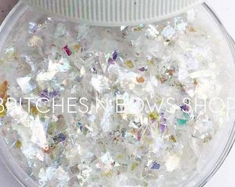 Sea Shells || Premium Polyester Glitter, 0.5oz by Weight • TRANSPARENT • || Random Cut