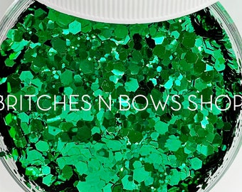 The Seaweed is Always Greener    Exclusive Premium Polyester Glitter, 1oz by Weight • OPAQUE •    up to .094 cut