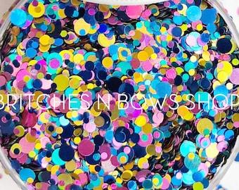 Swirly Twirly Gumdrops || Confetti Dot Glitter Mix, 1oz Jar • OPAQUE •