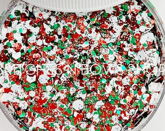 tis the Season    Exclusive Premium Polyester Glitter, 1oz by Weight • OPAQUE •    up to .094 cut