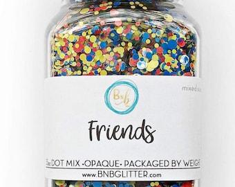 Friends BULK || Exclusive Premium Polyester Glitter, 3.5oz By Weight • OPAQUE • || dot mix