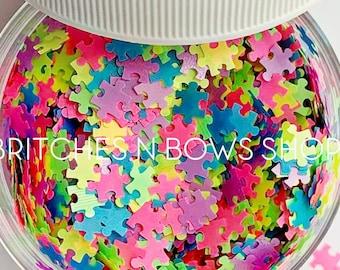 We Go Together    Original BnB Puzzle Glitter Shape, 1oz Jar • OPAQUE •    6mm