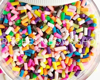 Sundae Fun Day || Polymer Clay FAKE Sprinkle Shapes, 1oz Jar || Sprinkles