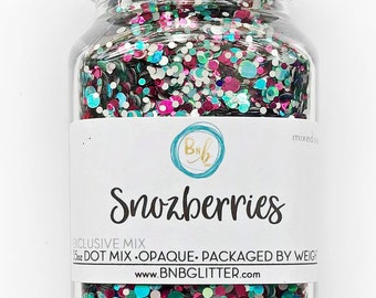 Snozberries BULK    Exclusive Premium Polyester Glitter, 4oz by Weight • OPAQUE •    dot mix