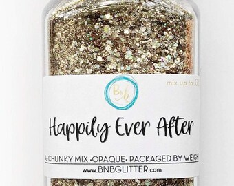 Happily Ever After BULK || Premium Polyester Glitter, 4oz by Weight • OPAQUE • || up to .062 cut
