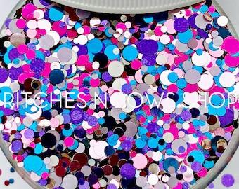 Unicornfetti || Exclusive Confetti Dot Glitter Mix, 1oz Jar • OPAQUE •