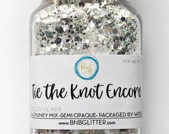 Tie the Knot Encore BULK (Diamond Family)    Exclusive Polyester Glitter, 4oz by Weight • TRANSPARENT •    up to .125 cut