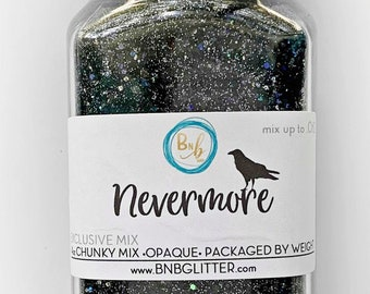 Nevermore BULK    Exclusive Premium Polyester Glitter, 4oz by Weight • OPAQUE •    up to .062 cut