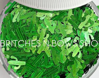 Cactus Makes Perfect    Original BnB Cactus Glitter Shapes, 1oz Jar    8mm