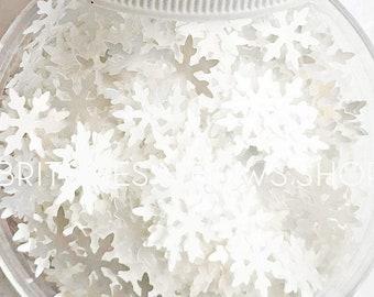 Flurries || Snowflake Glitter Shape, 1oz Jar • TRANSPARENT •