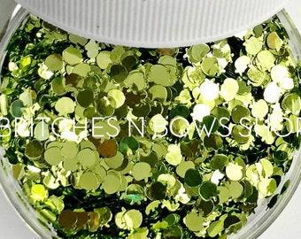 Apple Teenies || Apple Glitter Shape, 1oz Jar • OPAQUE • || 3mm