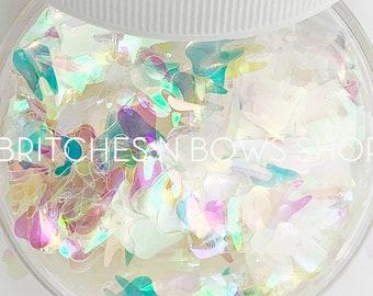 Tooth Fairy || Original Tooth Glitter Shape, 1oz Jar • TRANSPARENT • || 8mm