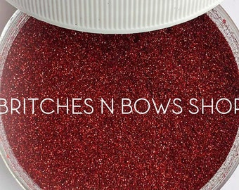 Ruby • July Birthstone || Polyester Glitter, 1oz by Weight • OPAQUE • || .004 cut