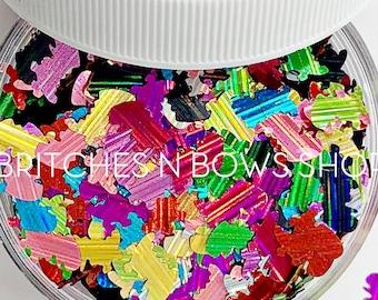 Rainbow Rex TREX || Original BnB Dinosaur Glitter Shape, 1oz Jar •  OPAQUE • || 8mm