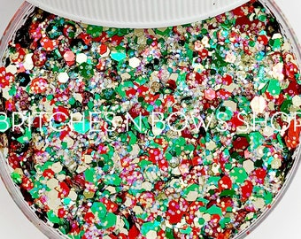 Happy Hollidays || Exclusive Premium Polyester Glitter, 1oz by Weight • Semi-OPAQUE • || up to .094 cut