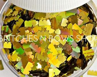 Another Brick in the Wall || Exclusive &Original BnB Block Glitter Shape Mix, 1oz Jar • OPAQUE •