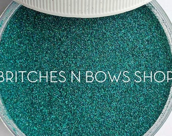 Turquoise • December Birthstone || Polyester Glitter, 1oz by Weight • OPAQUE • || .004 cut