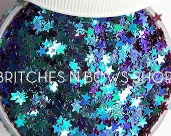 Ninja Stars || Star Glitter Shape, 1oz Jar • OPAQUE • || 3mm