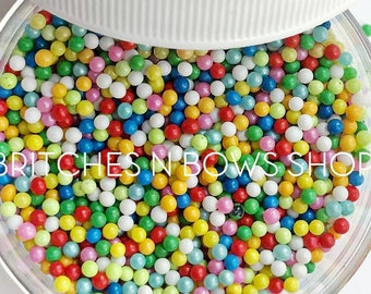 Everlasting Gobstoppers || Exclusive Glass Bead Sprinkle Mix, 2oz by Weight • OPAQUE •