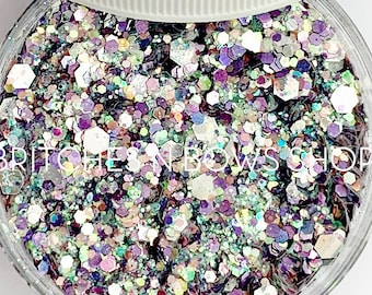 Glitter for Days    Exclusive Premium Polyester Glitter, 1oz by Weight • Semi-OPAQUE •    up to .125