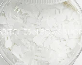 Wisdom Teeth || Original Tooth Glitter Shape, 1oz Jar • TRANSPARENT • || 8mm