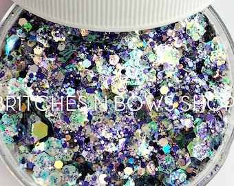 Dynasty || Exclusive Premium Polyester Glitter Mix, 1oz by Weight • TRANSPARENT • || up to .125 cut