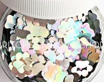 Bolt || Original BnB Paw Print Glitter Shape, 1oz Jar • OPAQUE •  || 10mm