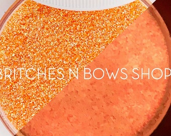 Coral Sunset [Coral/Orange Glow] || Exclusive Premium Polyester Glitter, 1oz by Weight • TRANSPARENT • || .008 cut