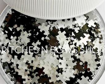 Crossword Puzzles    Original BnB Puzzle Glitter Shape, 1oz Jar    6mm