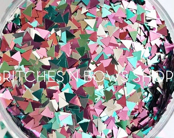 You're So Acute || Exclusive Triangle Glitter Mix, 1oz Jar • OPAQUE •