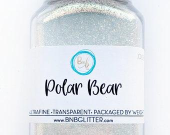 Polar Bear BULK || Premium Polyester Glitter, 4oz by Weight • TRANSPARENT • || .008 cut