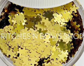 It's Puzzling || Original BnB Puzzle Glitter Shape, 1oz Jar || 6mm