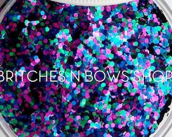 Hocus Pocus    Premium Polyester Glitter, 1oz by Weight • OPAQUE •    0.4 cut