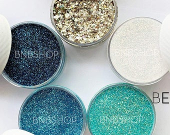 Beach Vacay Glitter Bundle || Premium Polyester Glitter, 1oz by Weight || 5oz total